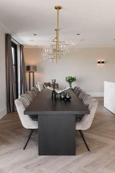 Open Plan Kitchen Living Room, Home Living Room, Living Room Decor, Dream House Interior, Home Interior Design, Floor Design, House Design, Dining Room Inspiration, Dining Room Design