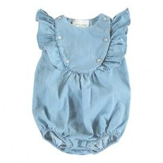Sparrow Chambray Rompers Blue  Louis Louise