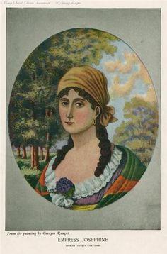 """""""Josephine"""" Empress Josephine in Martinique Costume."""