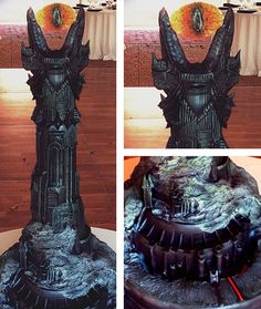 Eye Of Sauron Lord Of The Rings Cake by Jason Reaves.