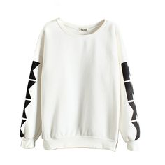 Winter Section Round Neck Print Pullover Hoodies