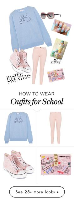 """""""Untitled #2061"""" by muffinsangria on Polyvore featuring Lingua Franca, Converse, Balenciaga, Dolce&Gabbana and pastelsweaters"""