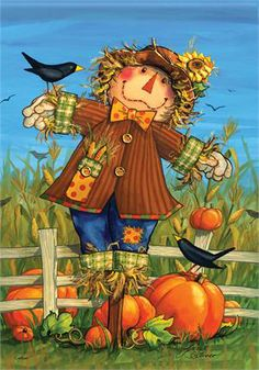 Homemade Scarecrow for Garden | Scarecrow Harvest Double Sided Decorative Flags