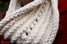 Carefree Cowl - this one took me about 4 hours total, using less than one skein of super bulky yarn on size 11 needles. ~dn