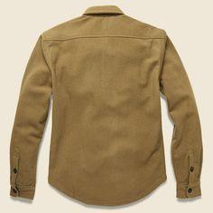 Heavy Wool Shirt Jacket - Camel