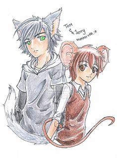 tom and jerry anime human | TandJ - Tom and Jerry, Human Ver. by Neete6Oni