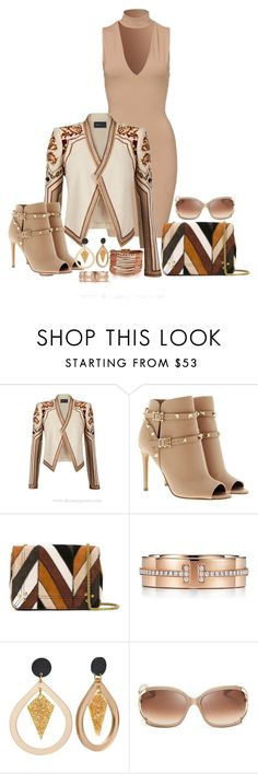 """""""Styling"""" by freida-adams ❤ liked on Polyvore featuring BCBGMAXAZRIA, Valentino, Jérôme Dreyfuss, Tiffany & Co. and Kate Spade"""