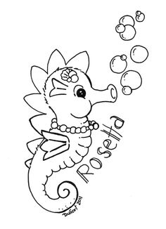 image detail for coloring page with cute seahorse coloring page with seahorse my
