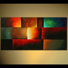 Modern abstract painting by the artist Osnat Tzadok. Choose from thousands of modern, contemporary and abstract paintings in this online art gallery. Indian Art Paintings, Modern Art Paintings, Colorful Paintings, Decorative Paintings, Painting Gallery, Painting Frames, Geometric Painting, Modern Wall Paint, Colorful Wall Art