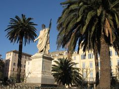 Bastia - Napoleon statue looking toward the sea