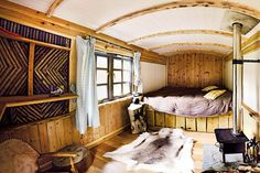 Glamping in Britain: a shepherd's hut in adults-only Crafty Camping, Dorset Glamping Dorset, Glamping Uk, Canopy And Stars, Check Curtains, Lyme Regis, Gypsy Caravan, Gypsy Wagon, Shepherds Hut, Bell Tent