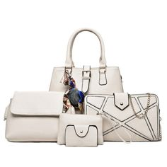 New Winter Handbag Fashion Shoulder Bag Litchi Pattern Diagonal Package  Handbag Five Sets of Child Mother Bag Simple Clutch 937ae7a7de024