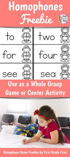 FREE!  Homophones (words that sound the same but are spelled differently) game with a Thanksgiving Theme.  Use for whole group review or as a center activity. Elementary Teacher, Elementary Education, Activity Centers, Learning Centers, First Grade, Second Grade, Teacher Resources, Teaching Ideas, Homophones Words