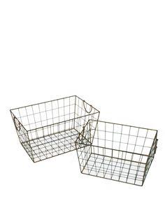 BATHROOM UPDATE | Wire Baskets, Set of 2, $39