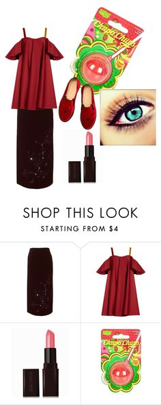 """""""Atumn cat"""" by viktoria-kovacs-ferencz on Polyvore featuring Alexander McQueen, Anna October, Laura Mercier, Topshop and Charlotte Olympia"""