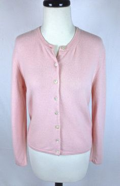 Valerie Stevens Pink Cashmere Sweater Womens L | Cashmere sweaters ...
