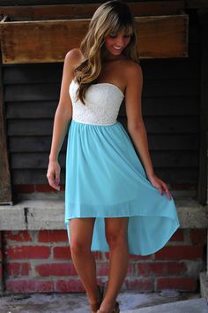 Show And Teal Dress: White/Teal