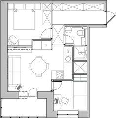 plans pour am nager et d corer un appartement de 30m2 inspirational ideas pinterest. Black Bedroom Furniture Sets. Home Design Ideas
