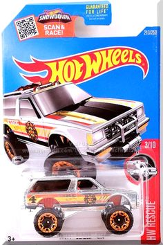 """ZAMAC, w/Orange interior, Smoked windows, Black, Yellow, & Orange stripes on hood & sides, Yellow """"HWFD"""" on roof, Fire Department shield on doors, """"Fire"""" and Black """"4"""" on sides, Gold Hot Wheels logo on sides, Chrome Malaysia Base, w/CopperChrBLOR's. Only $7.59 with Free Shipping!"""