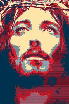 Jesus art (via http://barako.info)