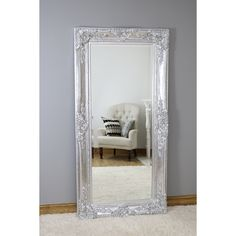 An ornate framed floor mirror with bevelled glass, guaranteed to catch the eye and be the centrepiece of any home décor. Measuring x Learn more. Wood Mirror, Beveled Mirror, Beveled Glass, Extra Large Mirrors, Circular Mirror, Dressing Mirror, Lattice Design, Vintage Room, Wood Design