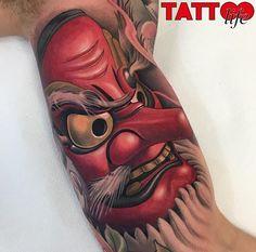 Tattoo Life Magazine: Work by Family Art Tattoo, Spain Face Tattoos, Wolf Tattoos, Leg Tattoos, Tattoos For Guys, Sleeve Tattoos, Tengu Tattoo, Hanya Tattoo, Japanese Tattoo Designs, Japanese Tattoo Art