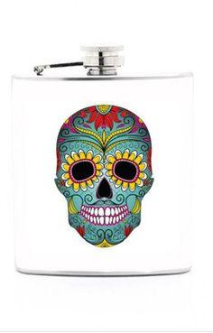 Sugar Skull Flask //