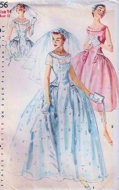 Simplicity 1156. Bridal pattern (1950s)