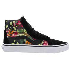 Vans Sk8 Hi Top Reissue Womens Black Lime Trainers Sneakers #Vans #Trainers