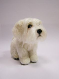 Needle Felted Dog  Custom portrait Maltese dog  Wool by ArteAnRy, €160.00