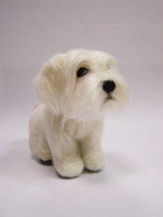 Needle Felted Dog - Custom portrait Maltese dog - Wool animal sculpture- eco friendly art-Collectible artist animals on Etsy, £134.24