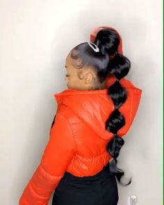 Pin on 刚 Hair Ponytail Styles, Weave Ponytail Hairstyles, Sleek Ponytail, Baddie Hairstyles, Girl Hairstyles, Curly Hair Styles, Natural Hair Styles, Sleek Hair, School Hairstyles
