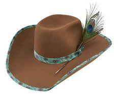 Resistol Wrangler Poison 89 Oleander B Peacock Felt Hat Cowgirl Tuff, Cowboy Boots, Felt Hat, Wool Felt, Resistol Hats, Custom Cowboy Hats, Equestrian Supplies, Country Fashion, Horse Tack