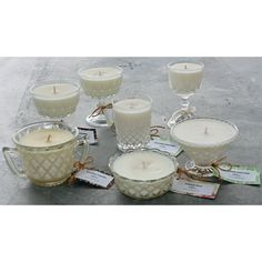 Glass Vintage Soy Candles