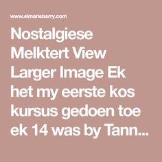 Nostalgiese Melktert View Larger Image Ek het my eerste kos kursus gedoen toe ek 14 was by Tannie Marcelle Botha in Bloemfontein haar kookskool se naam is Demo-den. Hierdie resep kom van haar af! Dit is n uithaler melktert resep, en my Ma mag maar die melktert bak. Hoop julle geniet die resep! Ingredients 125 g botter Geel van een eier ( behou die wit) 1 groot koppie meelblom 1 hoogvol teelepel bakpoeier 1/2 koppie melk knippie sout 4 koppies melk 1 koppie suiker 1 eetlepel botter Geel… Melktert, Kos, Image, Aries, Milk Cake, Blackbird