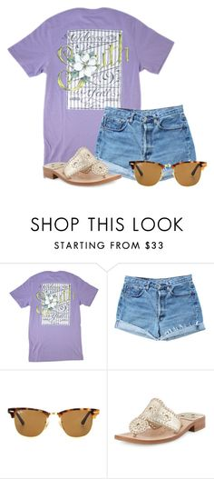 """""""Can't wait for this shirt to come!"""" by aweaver-2 on Polyvore featuring Levi's, Ray-Ban and Jack Rogers"""