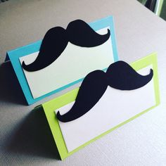 12 Mustache Theme food labels . Place cards by twinepaperscissors