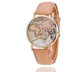 World Map Watch Casual Women Dress Quartz Watches