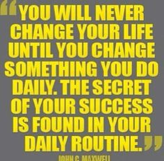 It's a lifestyle change!