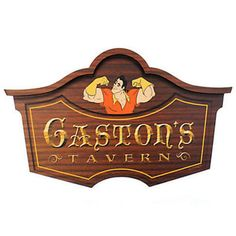 Disney Parks Gaston's Tavern Wall Sign Walt Disney World new