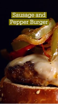 Pork Recipes, Cooking Recipes, Healthy Recipes, Burger Recipes, Crockpot Recipes, Sausage And Peppers, Stuffed Peppers, Good Food, Yummy Food