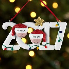 More than a Christmas tradition, our 2017 ornament lets you celebrate the holidays with your family, friends, book club, bowling team or any other important people in your life. <br></br> <a href=https://www.personalcreations.com/ornaments style=color:#4a5ec1;>Click here for our entire collection of Ornaments</a>