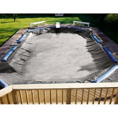 "Swimming Pool Winter Covers - ""Super Deluxe"" Pool Cover by Swimline In Ground Pools .. http://www.cheappoolstuff.com/product-category/covers-tubes/"