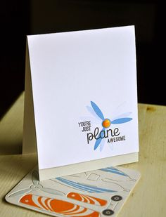 Just Plane Awesome Card & 3D Airplane Parts by Maile Belles for Papertrey Ink (December 2014)