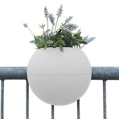 Pot de Balcon Ballcony Bloomball Blanc Rephorm Jardinchic