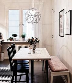 Gorgeous dining table lamps individualize the room, lamps . - Gorgeous dining table lamps individualize the room, - Table Design, Dining Room Design, Chair Design, Room Interior, Interior Design, Apartment Interior, Interior Ideas, Elegant Dining Room, Small Dining Room Sets