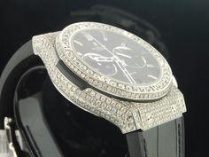 Custom Hublot Big Bang 44mm Genuine Diamond Watch 10.50 Ct.