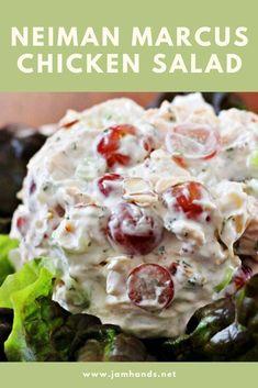 Neiman Marcus Chicken Salad Best Chicken Salad Recipe, Best Salad Recipes, Easy Chicken Recipes, Chicken Salads, Chicken Salad Sandwiches, Chicken Salad With Grapes, Grape Salad, Chicken Soups, Chicken Tacos