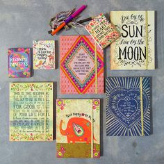 when your heart speaks, take good notes... in super adorable notebooks!
