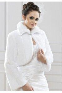 boleros-en-faux-vison-fourrure-accessoires-mariage-mariee-ceremonie - Accessoires du Mariage